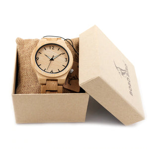 Classic Premium Chunk Light Wood Watch