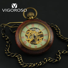 Wood & Copper Antique Pocket Watch