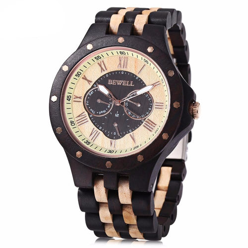 Retro Chunk Wooden Watch