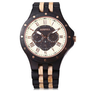 Retro Chunk Wooden Watch (Instock)
