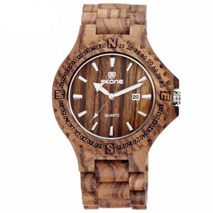 Maple, Ebony, Zebra Wood Chunk Watch