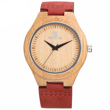 Slim Light Wooden Watch (Leather Strap)