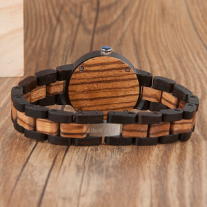 Couples Two Tone Circle Wood Watch