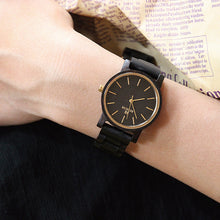 Dark Style Chunk Wood Watch