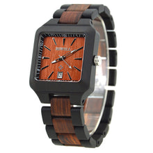 Classic Square Bevel Wood Watch