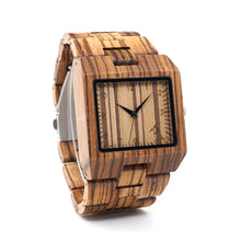 Square Chunk Wooden Watch