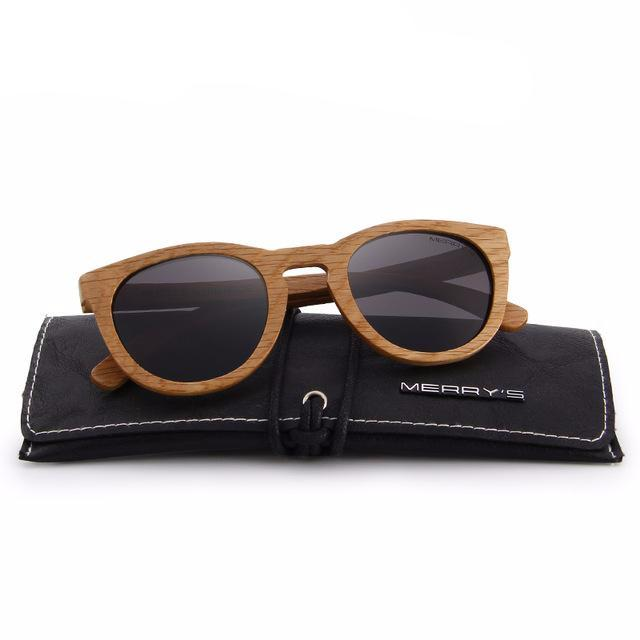Merry's Design Light Retro Wooden Sunglasses