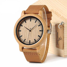 Classic Bamboo Wooden Watch (Leather Strap)