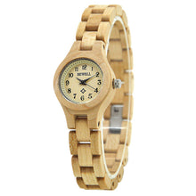 Slim Circle Women's Wooden Watch