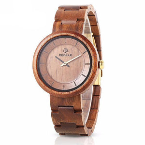 Light Circle Wooden Watch