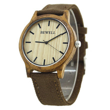 Classic Bamboo Wooden Watch (Brown Fabric Strap) (Instock)