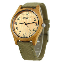 Classic Bamboo Wooden Watch (Fabric Strap)
