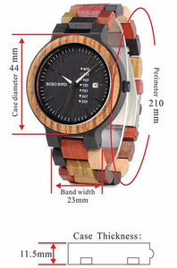 Chunk Circle Coloured Wooden Watch
