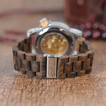 Classic Chunk Skeleton Wooden Watch
