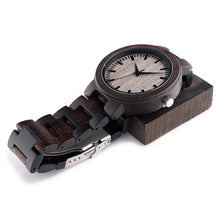 Dark Circle Wooden Watch