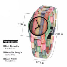 Chunk Colour Bamboo Wooden Watch