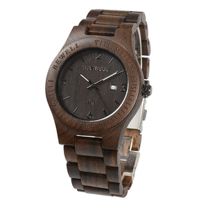 Dark Brown Chunk Wooden Watch