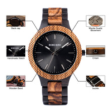 Chunk Two Tone Wooden Watch