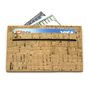 Natural Cork Wood Slimline Wallet