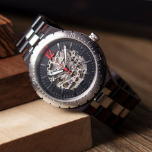 Luxury Two Tone Stainless Steel & Wood Watch