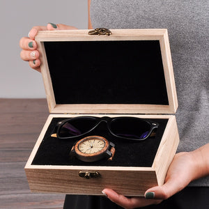 Chunk Circle Wooden Watch & Sunglasses (Men's Gift Set Box)