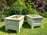 painted garden planters