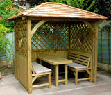 Garden Arbour with Cedar Shingle Roof