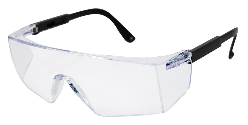 Boxer Safety Glasses | Light Weight, Frameless Eye Protection, Clear Lens, Gray Lens, Black Lens All with Black Temples, Anti-Scratch, Anti-Fog
