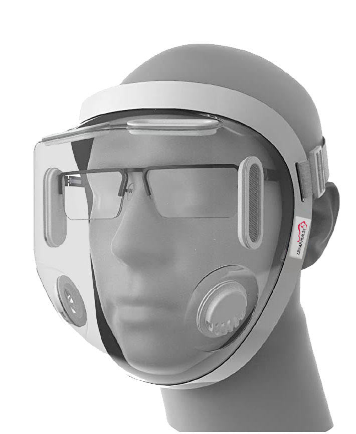 Full Face Protective Gear, Built-In Nano Surge Filter, Lightweight, White (Pack of 1)