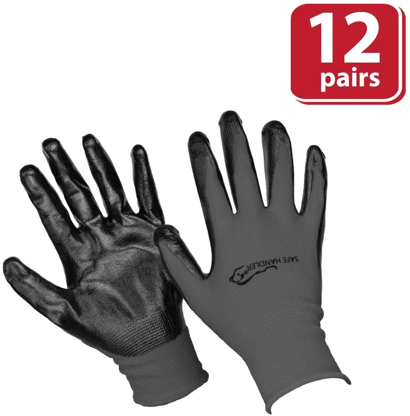 Nitrile Firm Grip Work Gloves | Lightweight, Breathable Lining, Fitted Wrist, Non-Slip Grip, Abrasion Resistant, OSFM