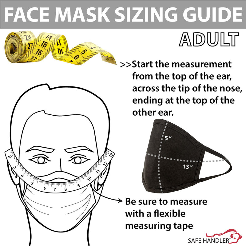 Adult Reusable Cotton Face Mask | Washable Mask for Men, for Women, Protective, Soft Breathable Jersey Cloth Mask