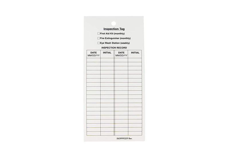 Fire Extinguisher Inspection Tags | Durable Cardstock, Monthly Maintenance Inspection Tags