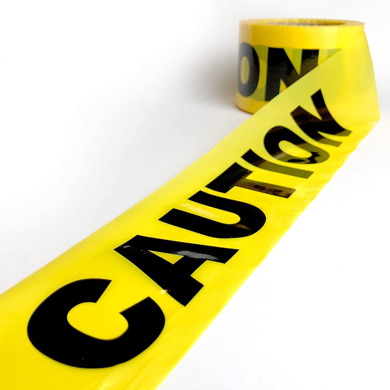 "Caution Tape Roll | Safety Warning Construction Tape, 2 Mil, 3""x 300ft"