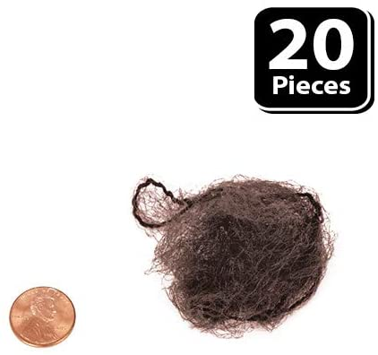 Jaclynette Durable and Invisible Coffee Color Hair Nets | Fits Adult and Youth