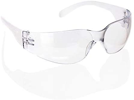 HYLINE | Clear Lens Clear Temple Safety Glasses | Fits Adult and Youth