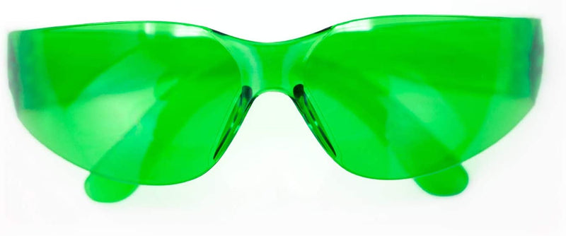 CRYSTAL | Full Color Green Safety Glasses | Fits Adult and Youth