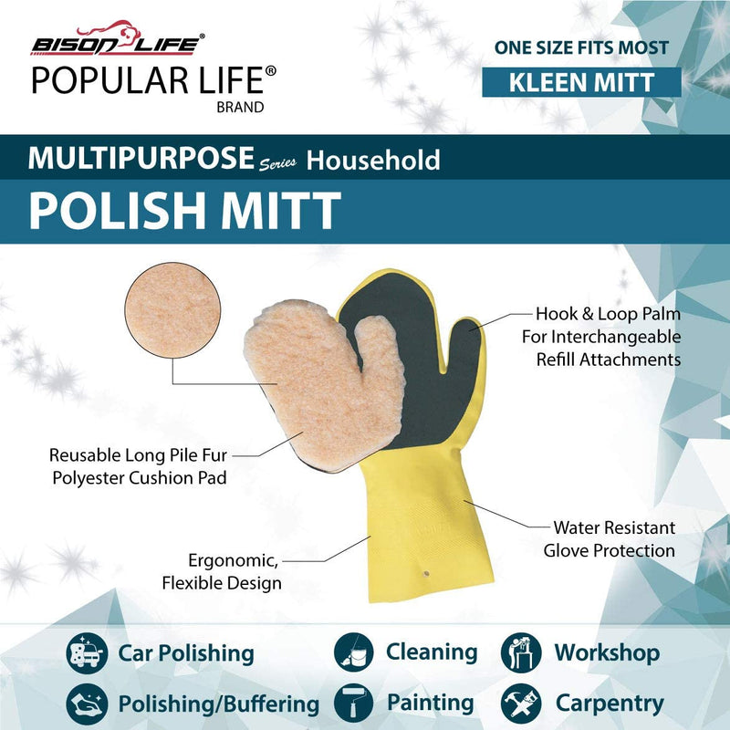 Kleen Mitt Polish | Long-Pile Polyester for Buffering | One Size Fits Most
