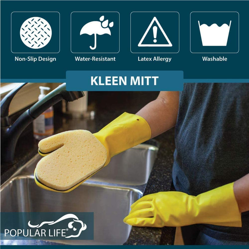 Kleen Mitt Reticulated Sponge | Changeable, Flexible, Sponge for Kitchen & Bathroom Use | One Size Fits Most