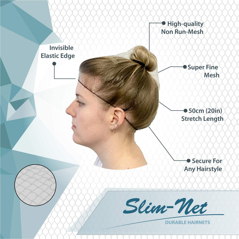 Slim-Net Durable and Invisible Blonde Hair Nets | Fits Adult and Youth