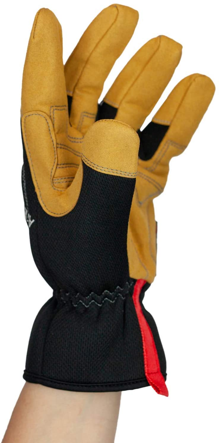 Handyman Work Gloves | Flexible Hand Protection, Easy-on Wide Cuffs, Thicker Knuckle Padding
