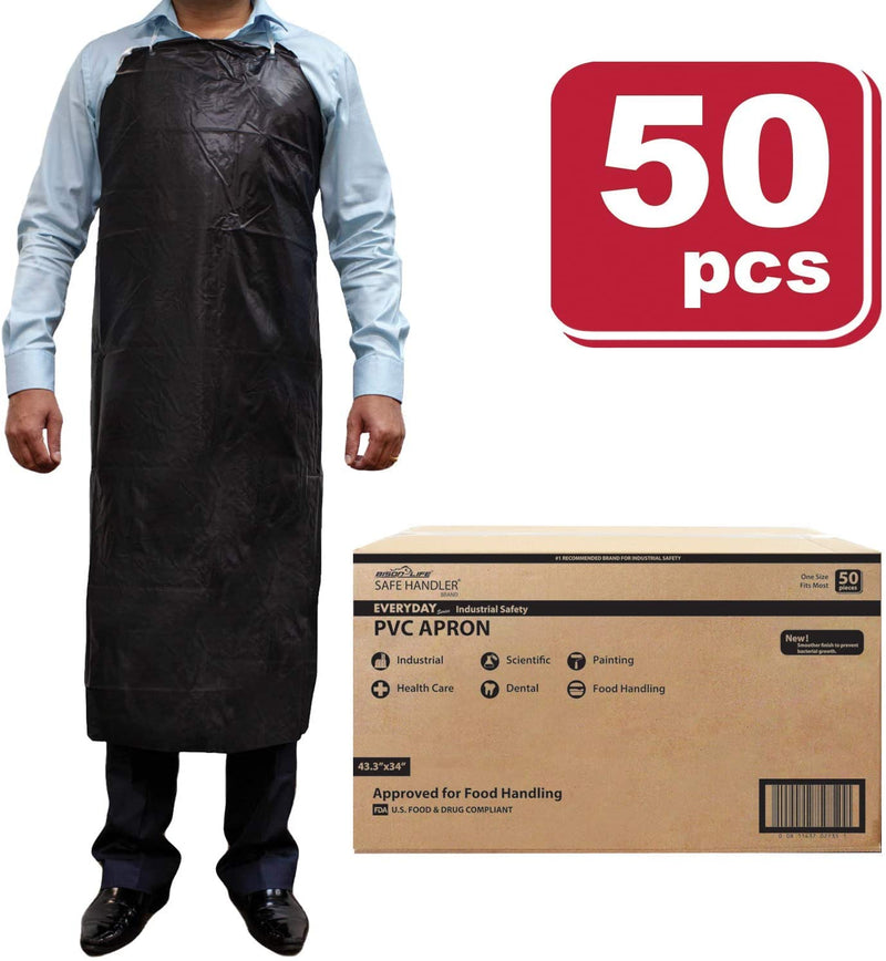 PVC Apron | Smooth Finish to Prevent Bacterial Growth, Comfortable, Easily Adjustable, Waterproof Material