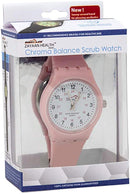Scrub Wear Classic Balance Medical Watch with Sweeping Second Hand | Quartz Movement, Glow, Non-Absorbent Silicone Band, Water Resistant