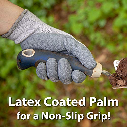 Ultra Stretch Grip Gloves | Latex Crinkle Coated Grip, Thick Lining, Comfort and Flexibility, OSFM