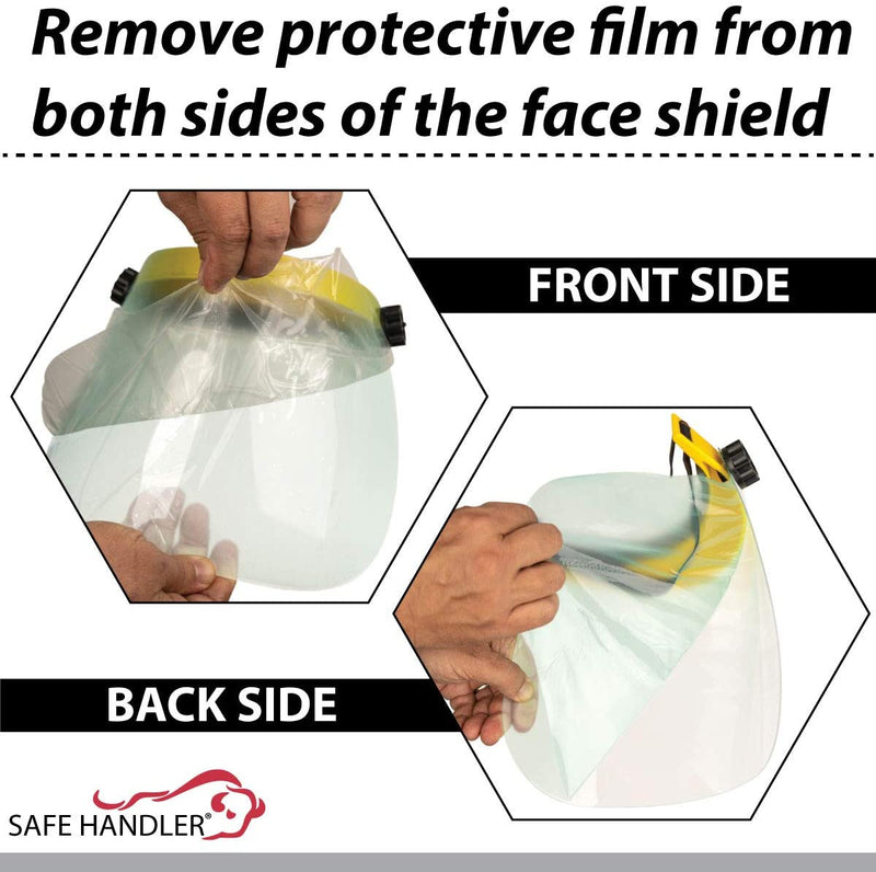 Clear Face Shield | Reusable Facial Protection, Eyes, Nose & Mouth Coverage, Lightweight Polycarbonate Visor, Yellow