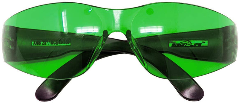 KEYSTONE | Color Lens Black Temple Yellow and Green Safety Glasses | Fits Adult and Youth