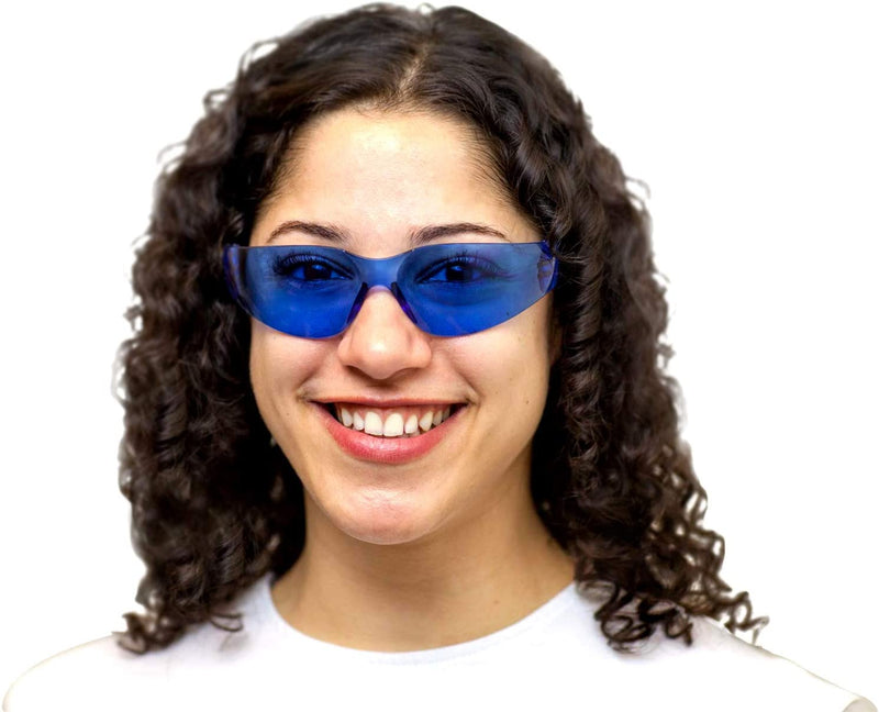KEYSTONE | Full Color Blue and Black Safety Glasses | Fits Adult and Youth
