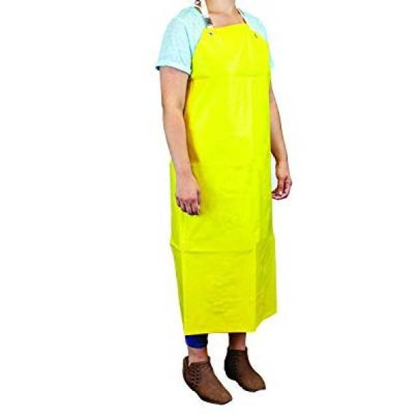 Heavy Duty Nitrile Industrial Bib Apron, Chemical and Oil Resistant
