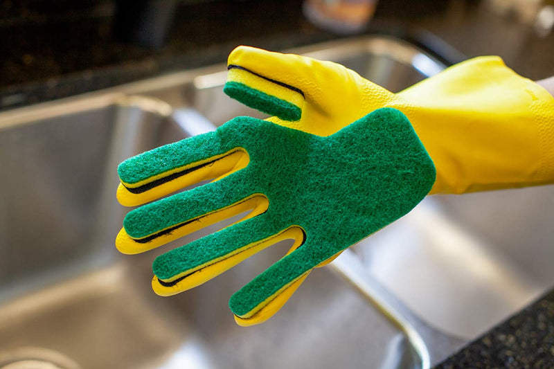 Kleen Mitt Glove | Scratch-Free, Fine Grade Scouring Pads | One Size Fits Most