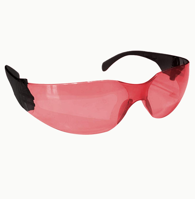SAFE HANDLER Protective Safety Glasses, Red Polycarbonate Impact and Ballistic Resistant Lens - Black Temple