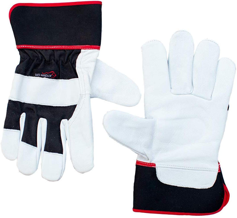 XGrip Buffalo Leather Gloves | Elastic Band Wrist, Knuckle Protection, Safety Work Gloves